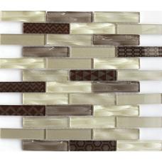 Мозаика стеклянная Optima brown 300x300