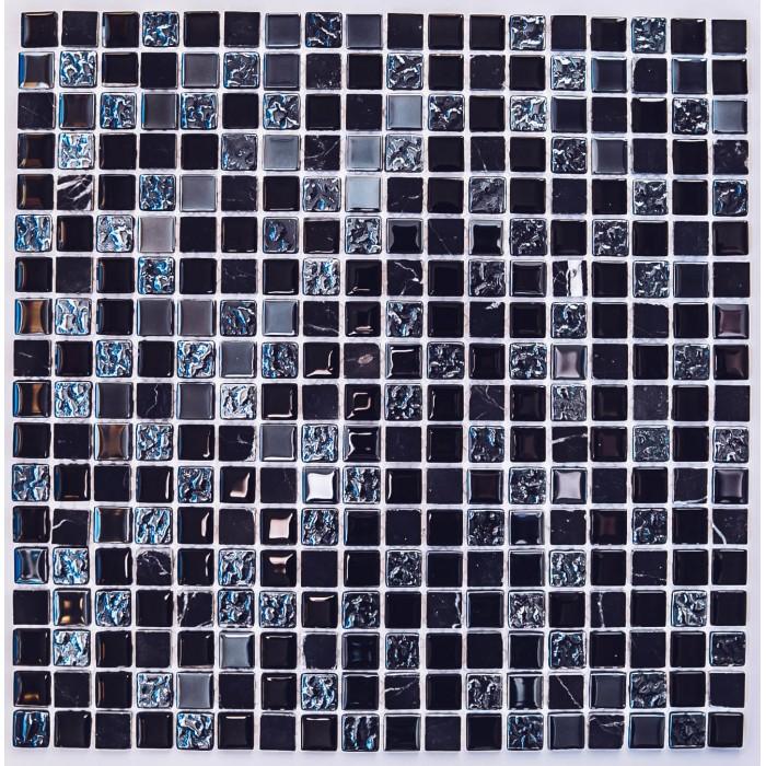 Мозаика стеклянная с камнем Tesla 300х300