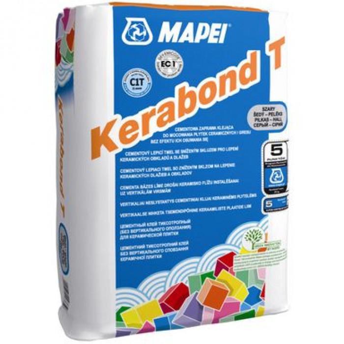 Клей для плитки Kerabond T Мапей 25кг, серый