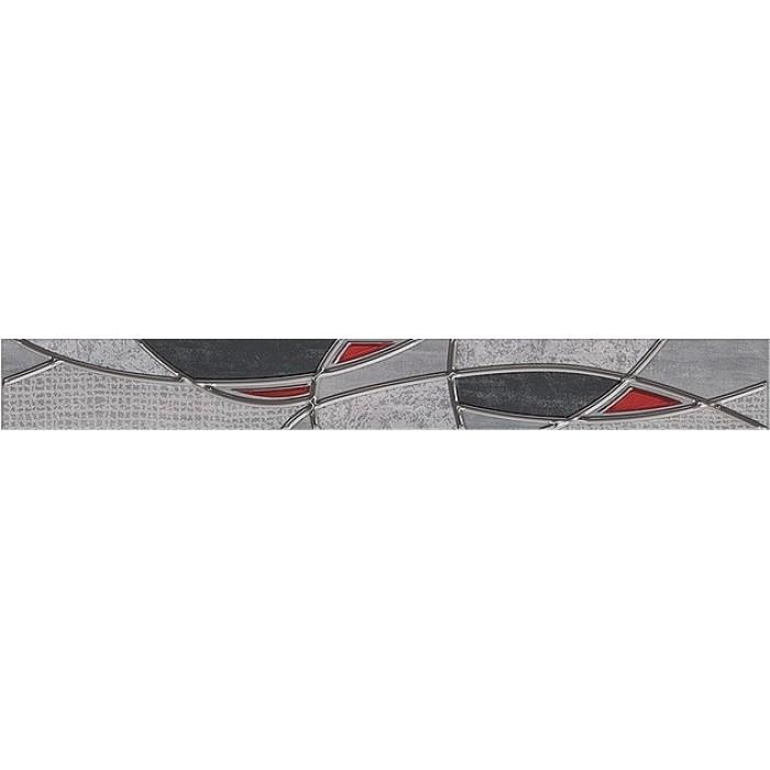 Бордюр AZORI Pandora Grey 630x75 Charm