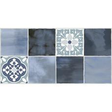 Плитка настенная AZORI Glam Indigo Ornament 2 630x315