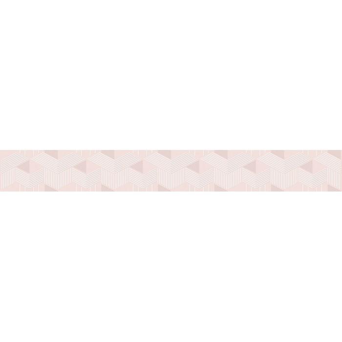 Плитка настенная AZORI Lounge бордюр blossom 505x62 geometria