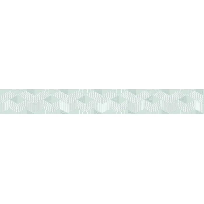 Плитка настенная AZORI Lounge бордюр mint 505x62 geometria