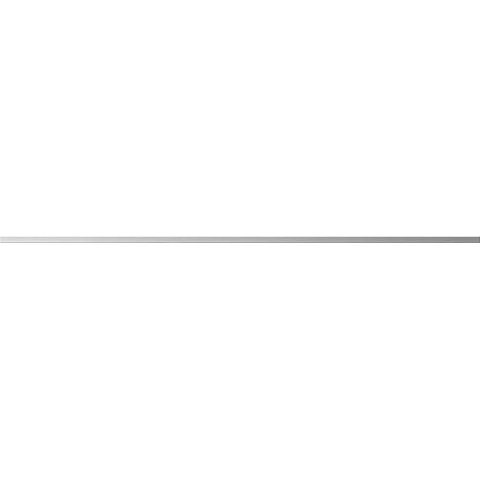 Бордюр CERSANIT Metallic 750х10 серебристый A-MT1U371\J