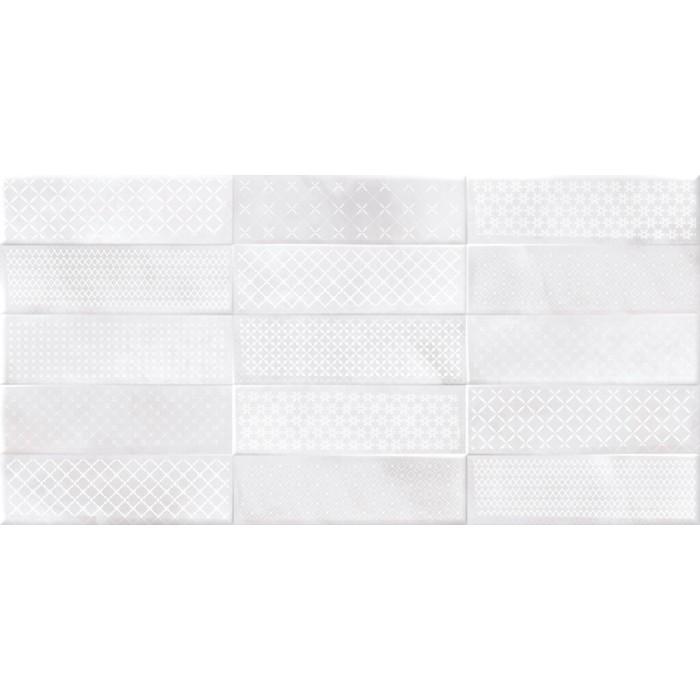 Плитка настенная CERSANIT Carly 598х298 светло-серый рельеф CSL524