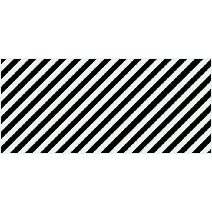 Плитка настенная CERSANIT Evolution 440x200 вставка диагонали черно-белый EV2G442