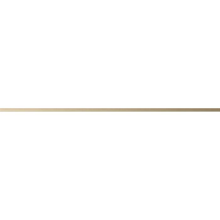 Бордюр CERSANIT Metallic 600х10 золотистый A-MT1L381\J