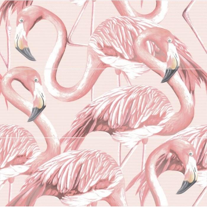 Плитка настенная CERSANIT Gradient 598x594 панно Фламинго розовый GR2T071