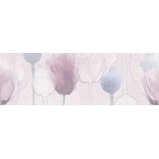 Декор CERSANIT Lila 750х250 вставка цветы розовый LL2U071DT