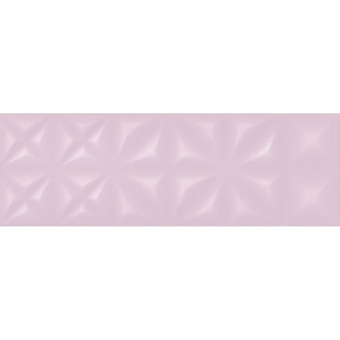 Плитка настенная CERSANIT Lila 750х250 рельеф розовый LLU072D