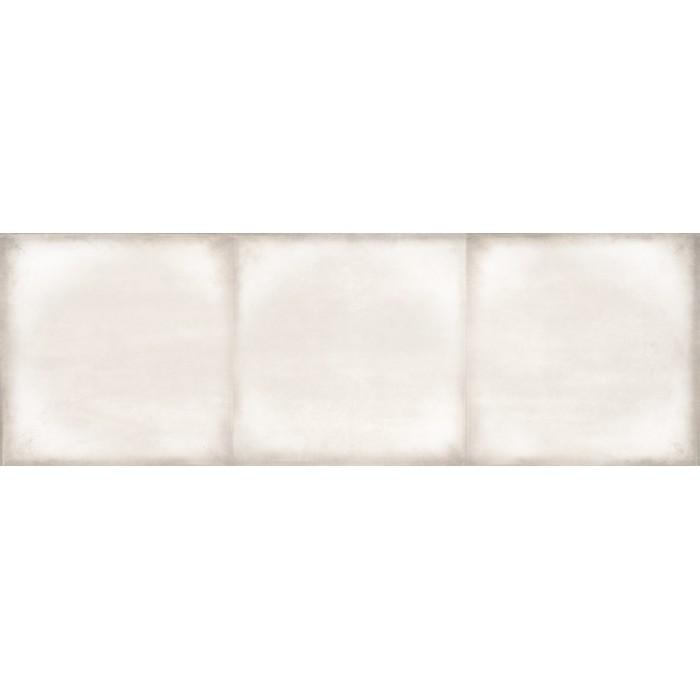 Плитка настенная CERSANIT Majolica 600х200 рельеф квадраты светло-бежевый C-MAS302D