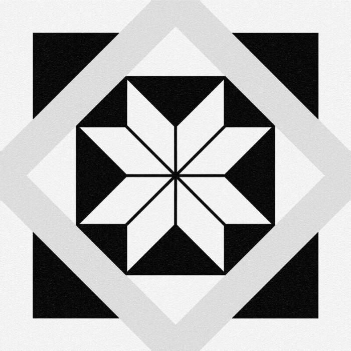 Керамогранит CERSANIT Stream 298x298 геометрия белый SM4A053