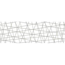 Декор CERSANIT Vegas 750х250 вставка белый VG2U051