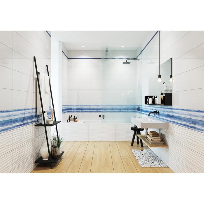 Декор CERSANIT Santorini 750х250 вставка голубой TR2U041DT