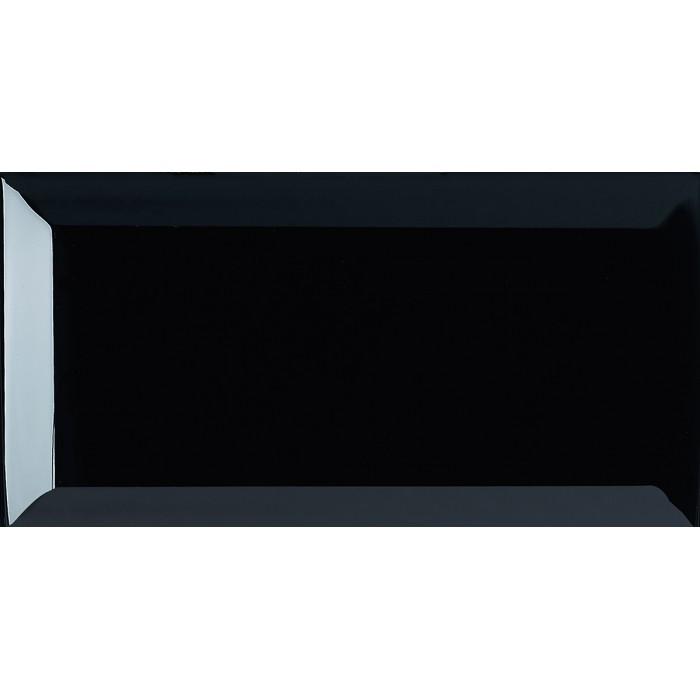 Настенная плитка Dar Ceramics Biselado Negro Brillo 200x100 (кабанчик)