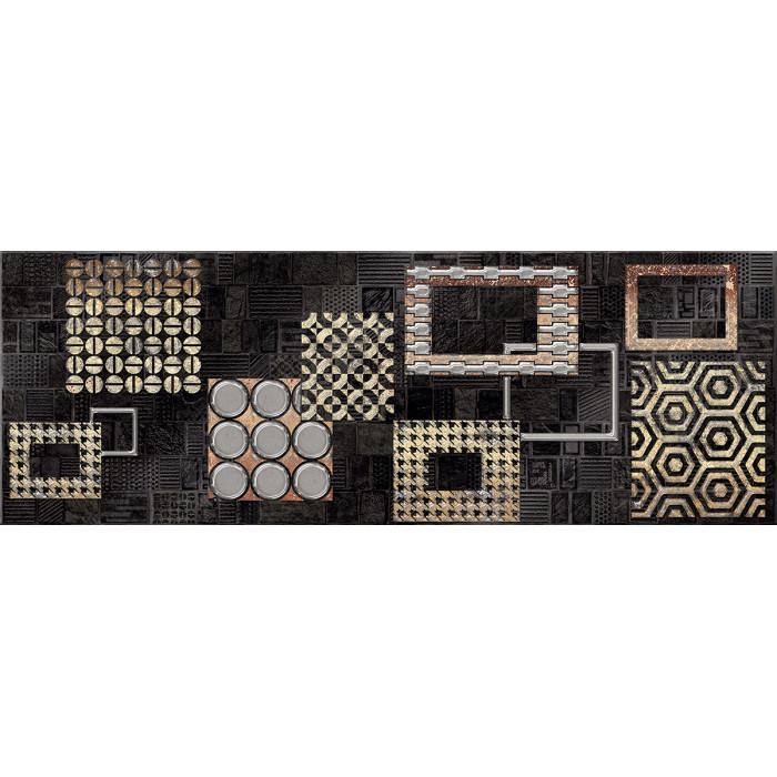 Декор ELETTO Commesso 709х251 Nero Geometria золото