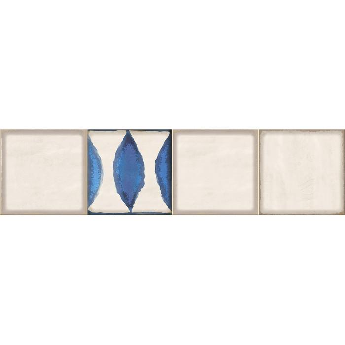 Декор ELETTO Faenza 630х156 Cobalt Flor 1