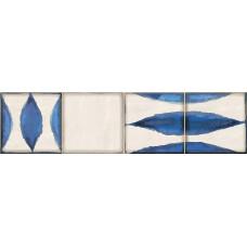 Декор ELETTO Faenza 630х156 Cobalt Flor 2