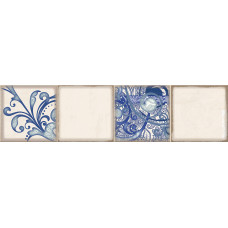 Декор ELETTO Faenza 630х156 фриз Cobalt Ornament 1