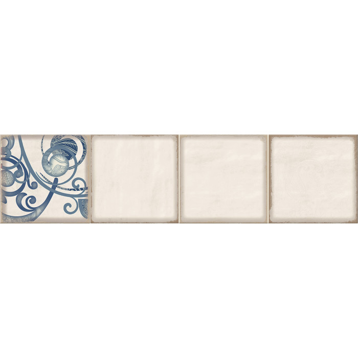 Декор ELETTO Faenza 630х156 фриз Cobalt Ornament 2