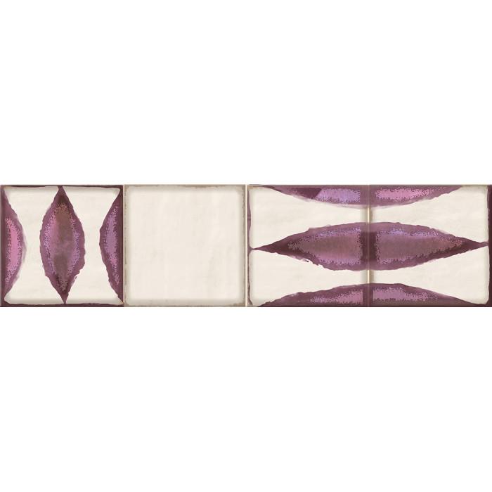 Декор ELETTO Faenza 630х156 Wine Flor 2