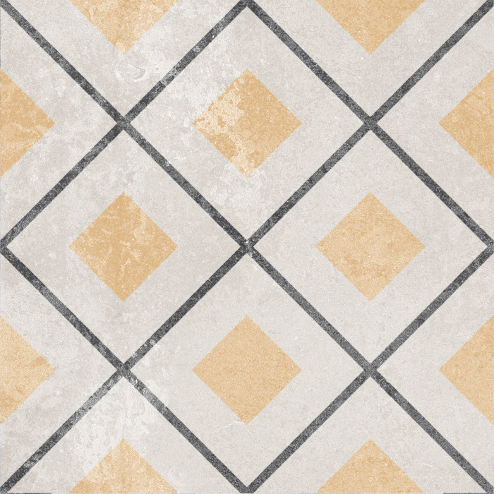 Керамогранит GOLDEN TILE Ethno 186x186 декор mix 14 Н8Б140