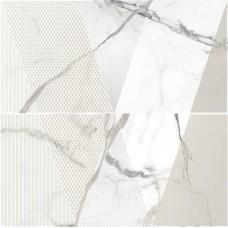 KERLIFE Arabescato 630х630 Bianco панно из 2 частей
