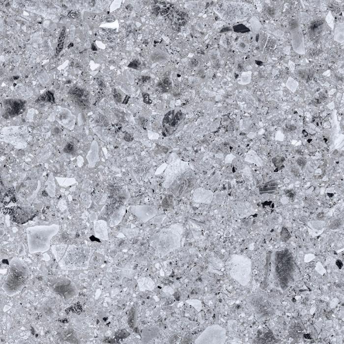 Керамогранит KERRANOVA Terrazzo Light Grey 600x600 светло-серый лаппатированный K-331/LR