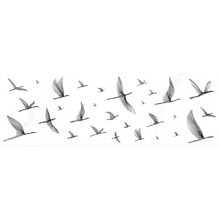Декор MEISSEN Elegance white 750x250 птицы EG2U051