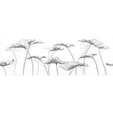 Декор MEISSEN Elegance white 750x250 цветы EG2U052