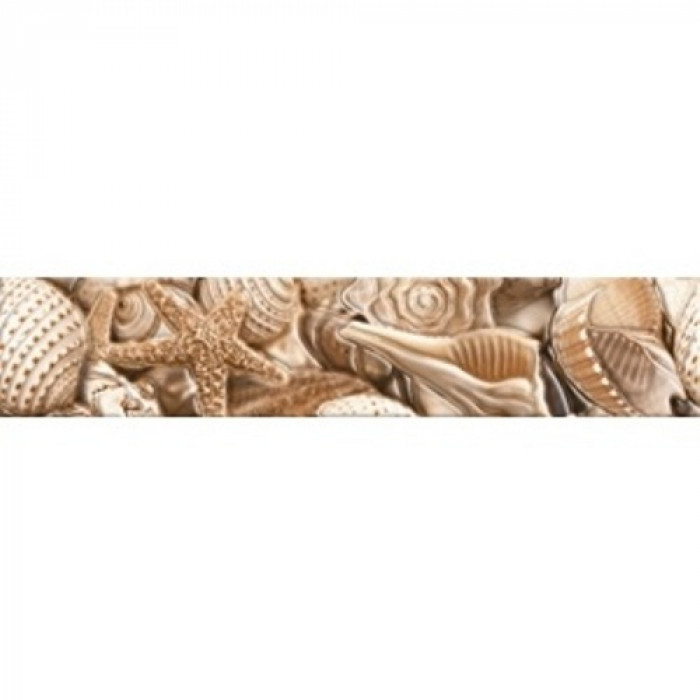 Бордюр GOLDEN TILE Sea Breeze 300x60 Shells Е11441