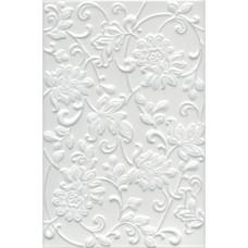 Плитка настенная KERAMA MARAZZI Аджанта 200х300 цветы белый 8216