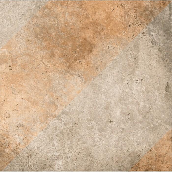 Керамогранит GRASARO Tivoli 400x400 Grey серый рельеф GT-242/g