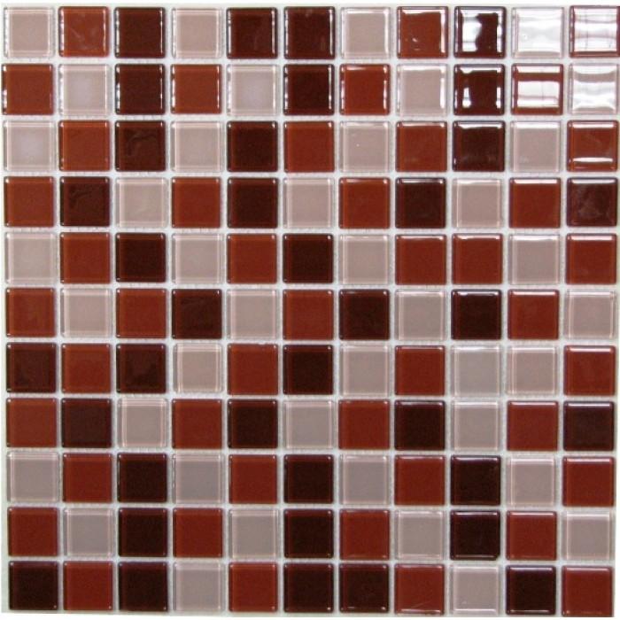 Стеклянная мозаика Brown Mix 300х300