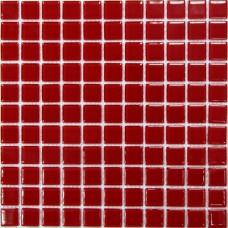 Стеклянная мозаика Red glass 300х300