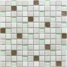 Мозаика стеклянная Lotto 300х300 белая