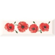 Декор Gracia Ceramica Metro Rosso white decor 01 100х300