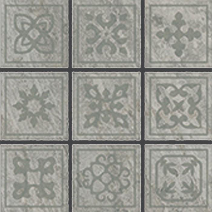 Керамогранит COLISEUMGRES Альпы вставка 100x100 Челтико серый