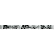 Бордюр CERSANIT Black&White 440x40 цветы BW7H231