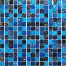 Мозаика стеклянная Navigator 327х327 синяя