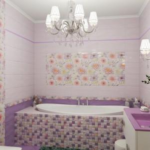 Плитка для ванной Gracia Ceramica Aquarelle