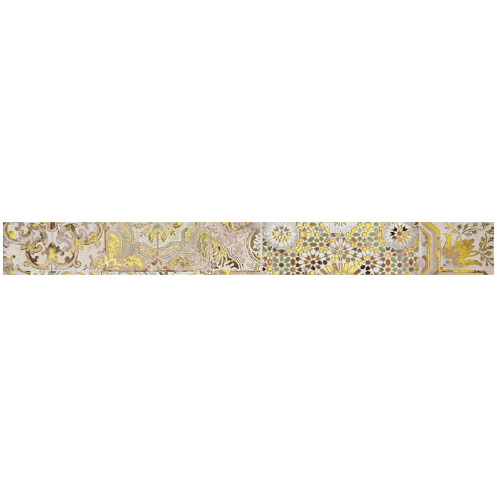 Бордюр GRACIA CERAMICA Patchwork beige border 01 600х65
