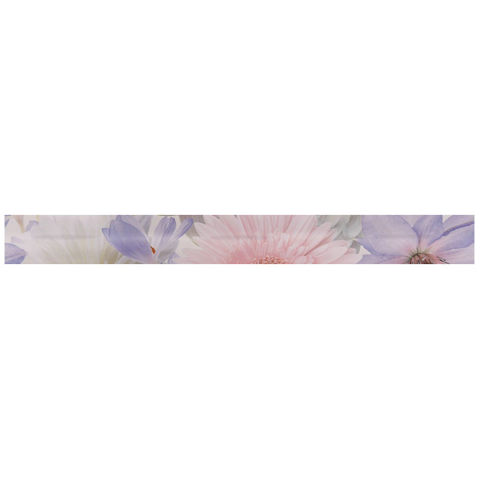 Бордюр GRACIA CERAMICA Aquarelle lilac border 01 600х65