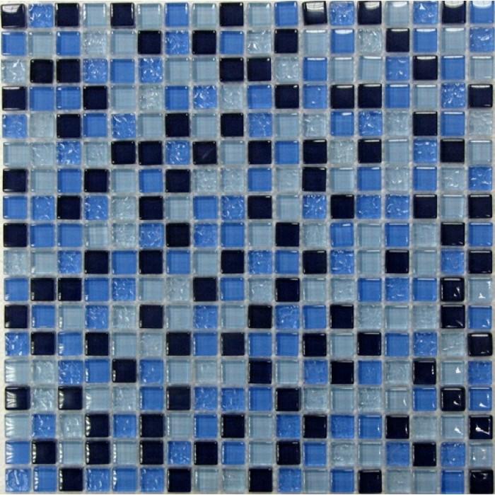 Стеклянная мозаика Blue Drops 300х300