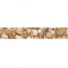 Бордюр GOLDEN TILE Sea Breeze 600x30 Shells Е11451