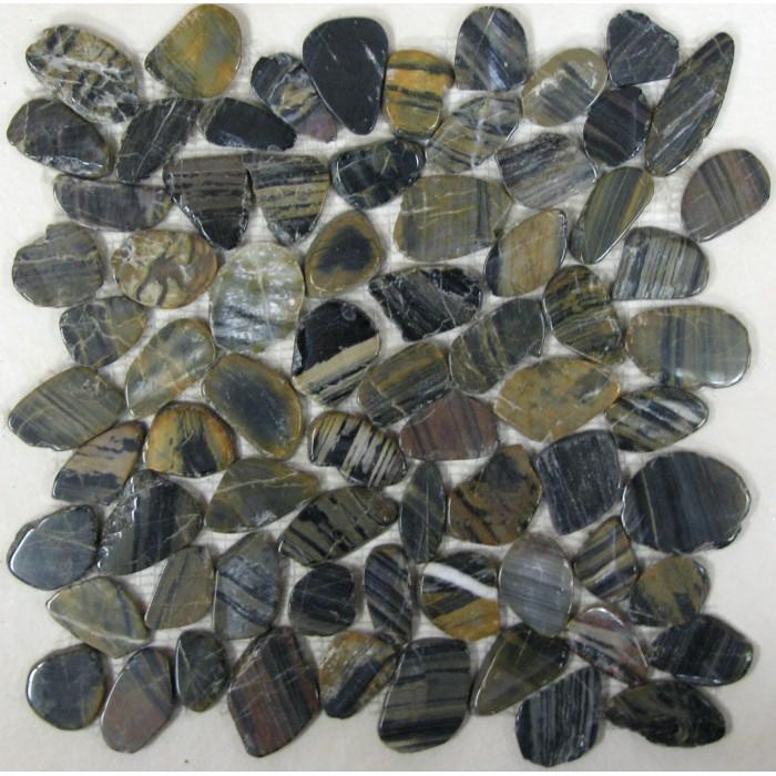 Мозаика из натурального камня Flat Tiger jack 305х305