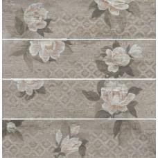 Керамогранит KERAMA MARAZZI Поджио 800х200 Цветы беж обрезной SG704300R