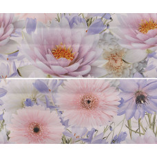 Панно GRACIA CERAMICA Aquarelle lilac panno 01 600х500