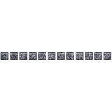 Бордюр KERAMA MARAZZI карандаш 200х14 бисер черный серебро POF003