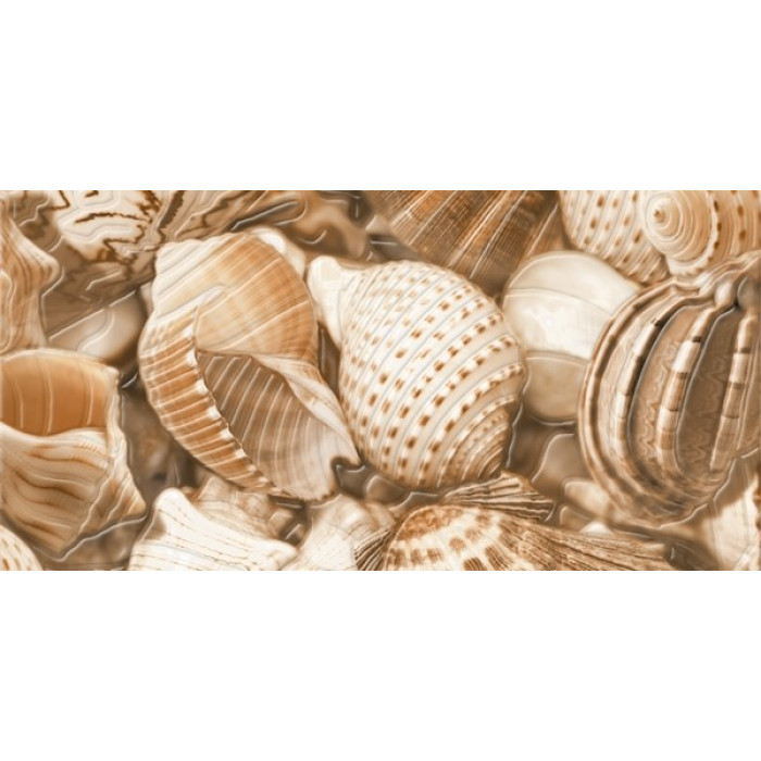 GOLDEN TILE Sea Breeze 300x600 декор 2 Shells Е11421